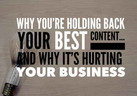 Creating Content: Is this mindset holding you back?